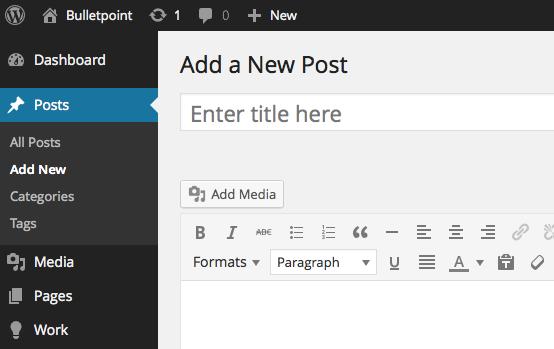 WordPress CMS Preview