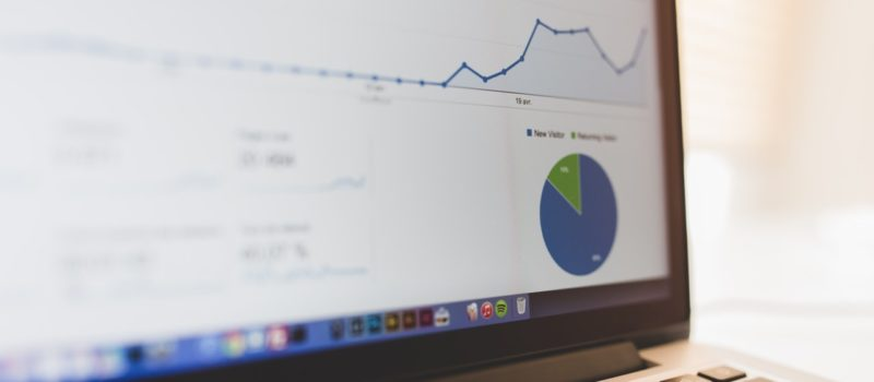 an image of a computer screen with Google algorithm SEO graphs on the screen